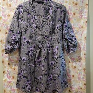 Apt 9 Floral Tunic-Size L